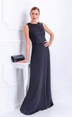 Елегантна рокля с дантела и жоржет Infinity