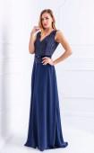 Дълга официална синя рокля Princess blue