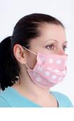 Розова многослойна перяща анатомична маска за лице