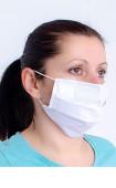 Бяла многослойна перяща анатомична маска за лице