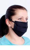 Черна многослойна перяща анатомична маска за лице