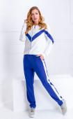 Спортен ежедневен комплект в синьо и бяло