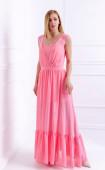 Елегантна розова рокля в две части