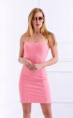 Къса розова парти рокля бюстие