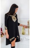 Вечерна рокля с ръчно рязани златисти орнаменти Gold Treasure