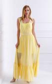 Елегантна жълта рокля в две части