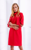 Елегантна червена рокля с аксесоар