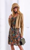 Цветна памучна рокля Fiore - mini