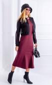 Зимна дълга рокля в бордо