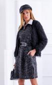 Сива рокля от плетиво с цепки Graphite