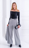 Широк панталон Geometric с джобове