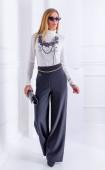 Черен панталон с широки крачоли