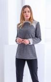 Сива зимна блуза