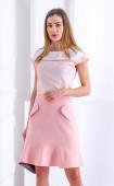 Лятна блуза с акценти в нежно розово