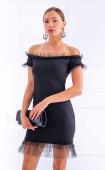 Елегантна мини рокля с къдри