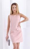 Розова рокля от велур Baby pink
