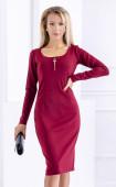 Стилна рокля по тялото със средна дължина